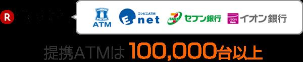 楽天銀行スーパーローンの提携ATMは100,000台以上